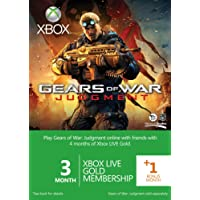 Xbox LIVE Gold 3-Month Membership Card with 1 Bonus Month: Gears of War Judgment Branded (Xbox 360)