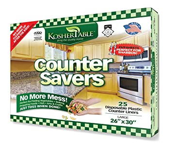 EDayDeal Disposable Counter Liners  Pack Of 25 Plastic Kitchen Counter  Covers For Easy Cleanup After