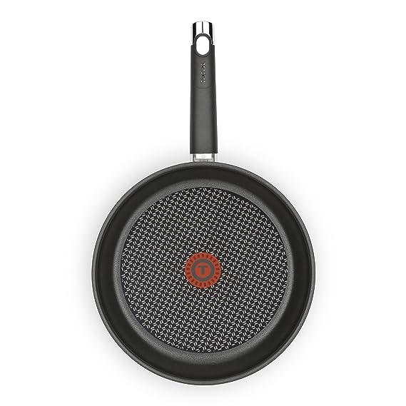 Tefal Emotion - Sartén de Aluminio de 28 cm, Antiadherente Titanium Extra, Exterior Resistente en Acero, para Todo Tipo de Cocinas Incluido Inducción: ...