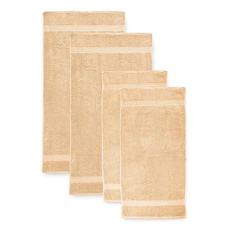 Lumaland Premium Set 2 Toallas 50 x 100 cm + 2 Toallas de baño 70 x