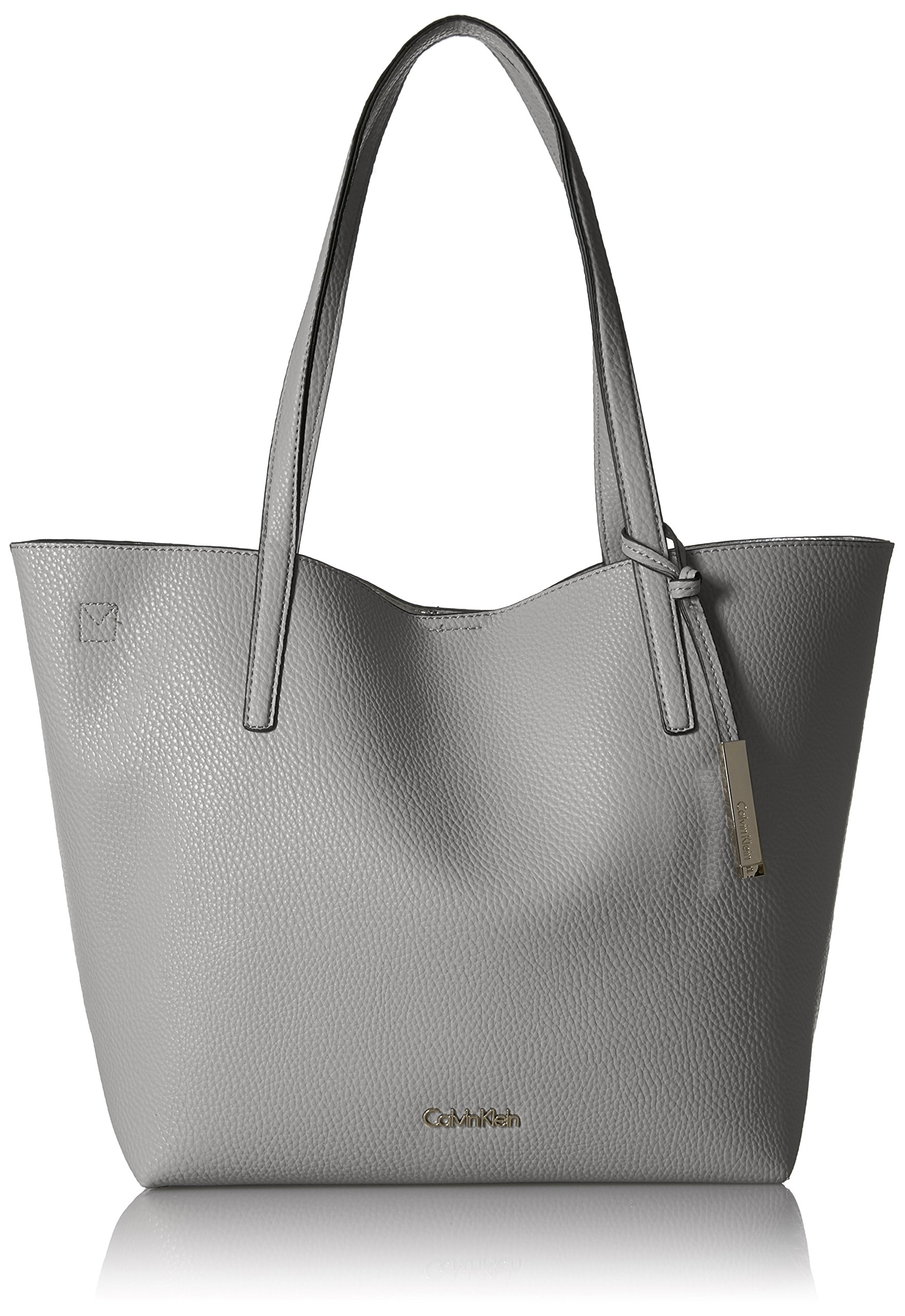 Calvin Klein Unlined Novelty Chemtech Tote, Grey