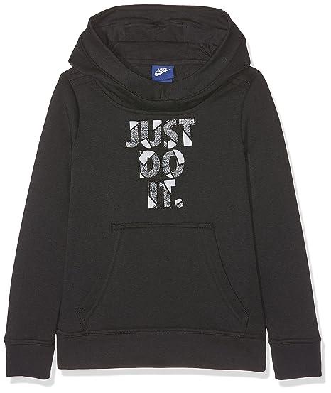 Nike G NSW Hoodie Po GFX Sweatshirt für Mädchen: