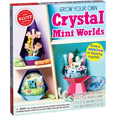 Klutz Grow Your Own Crystal Mini Worlds Science & Activity Kit: Klutz: Toys & Games