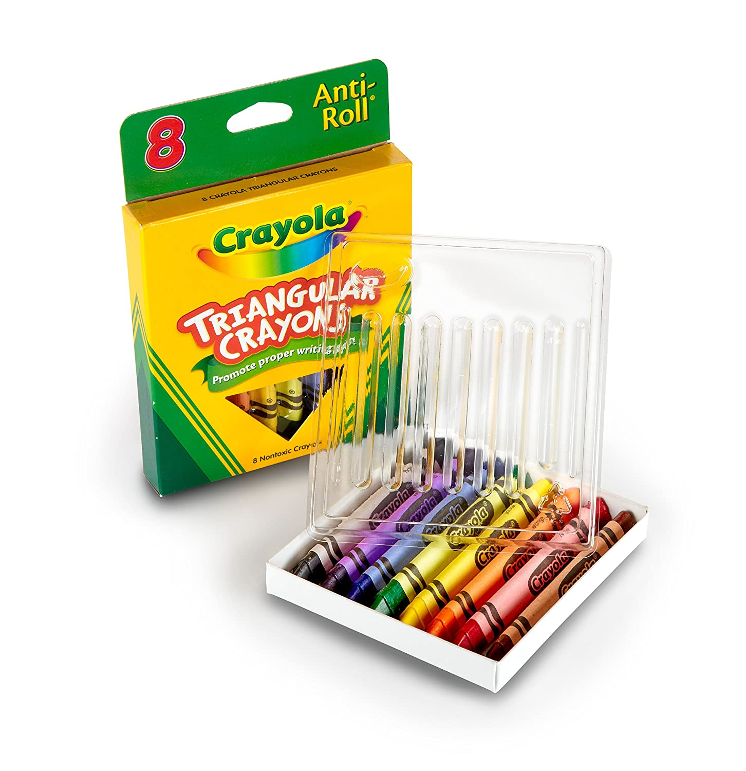 amazon com crayola 8ct triangular crayons toys games