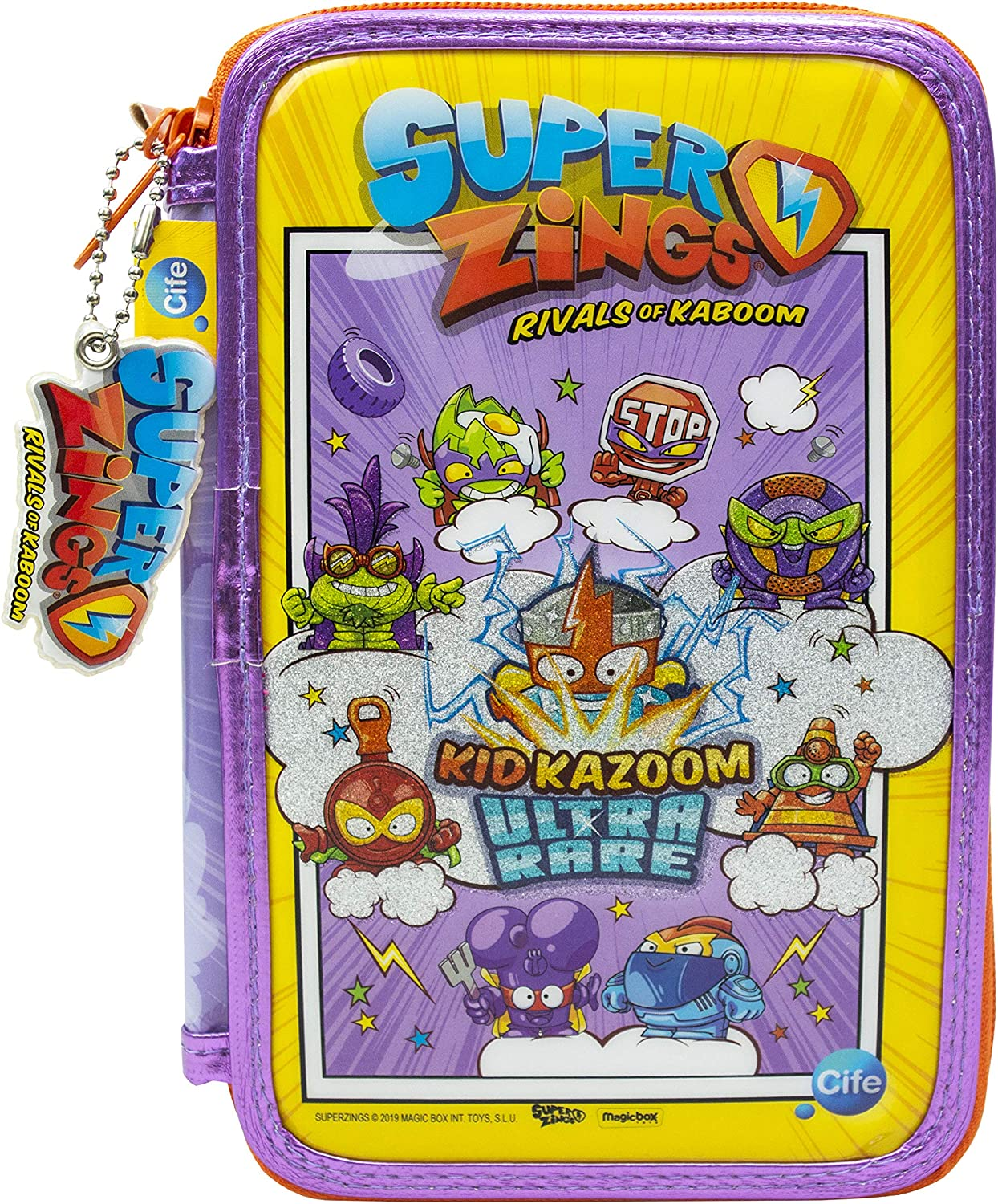 SUPERZINGS Estuche Triple-Kit Completo Material Escolar, Multicolor (Cife 41940): Amazon.es: Juguetes y juegos