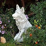 Gartendeko Deutscher Schäferhund Hund Gartenfigur Steinguss frostfest