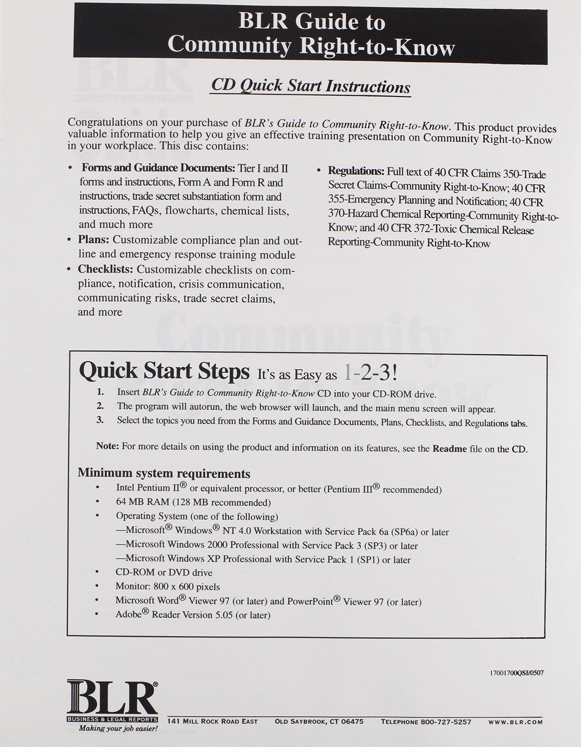 Community Right-To-Know pdf epub
