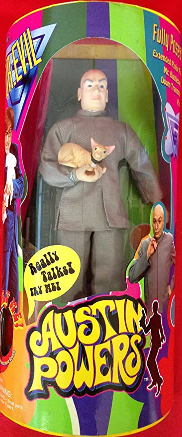 Amazoncom 9 Dr Evil Action Figure With Extended Pinky Finger And
