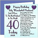 Husband 40th Happy Birthday Card