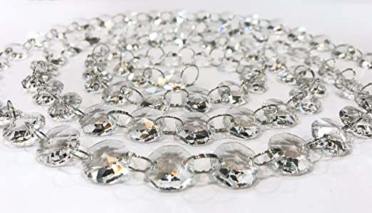 Moooni 6ft crystal beads chain garland chandelier chain octagon crystal beads chain garland chandelier chain octagon glass strands audiocablefo