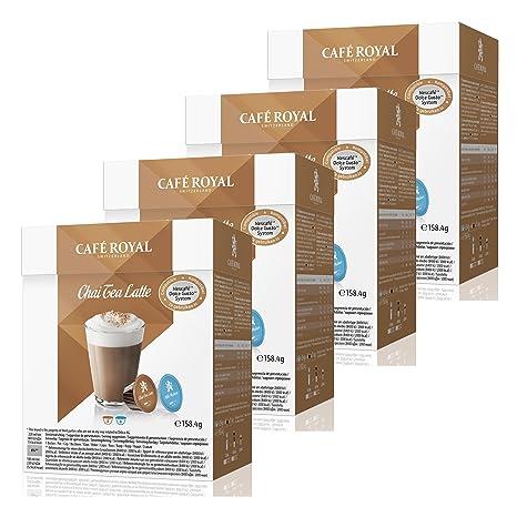 Café Royal Chai Tea Leche, té Hamilton, para Nescafé Dolce Gusto, 4 x