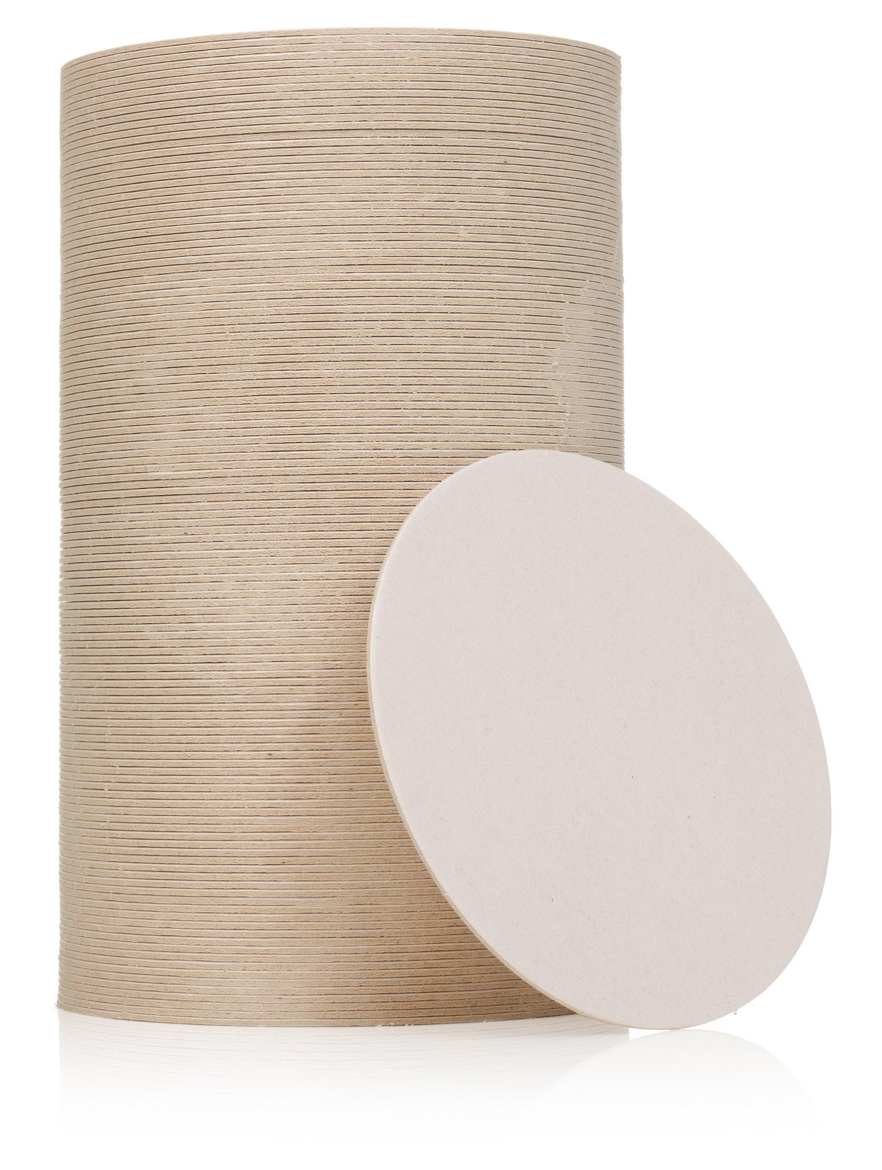Plain White Coasters, 125 Round