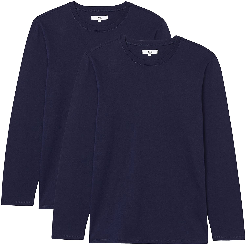FIND Men's 2 Pack Regular Fit Long Sleeve T-Shirt BRANDSET003