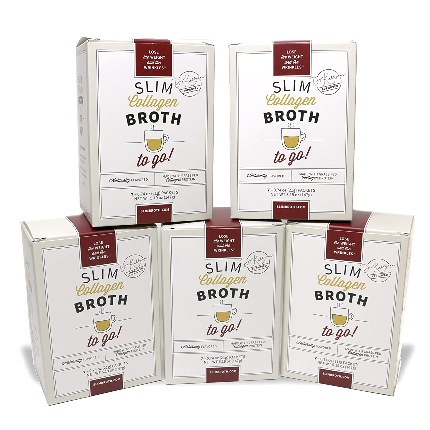 Amazon.com  Bone Broth Collagen To Go Packets (Five Box Set) from Bone  Broth Expert Dr. Kellyann  d6d1c2bb209eb