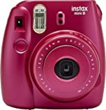 Fujifilm Instax Mini 8 Instant Film Camera (Pomegranate Red)