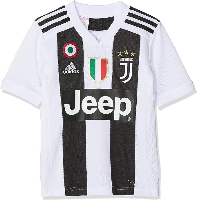 adidas Juve H JSY Y Camiseta Gara Home 2018/2019 Cristiano Ronaldo, Niño, Niños, CF3496-CR7: Amazon.es: Ropa y accesorios