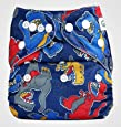 Bumberry Pocket  Diaper (Dinosaur) and 1 Microfiber Insert (Multicolor)