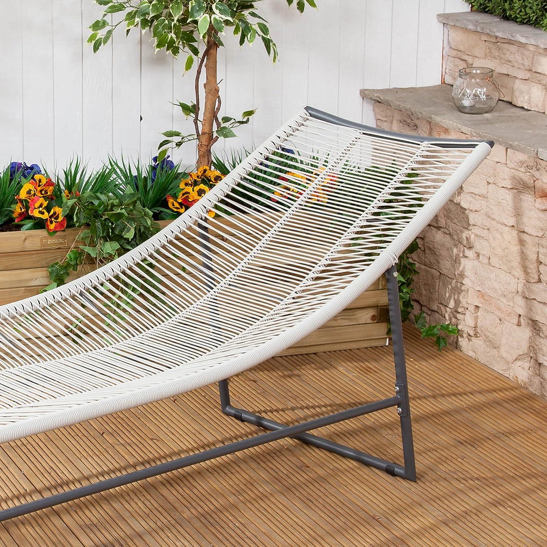 Alfresia Cosmopolitan Steel /& Poly-Weave Sun Lounger