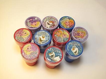 Amazon.com: Disney Frozen Elsa, Anna y Olaf SELF-INKING 10pc ...