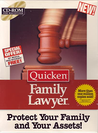 Amazon.com: Quicken Family Lawyer CD-Rom (Macintosh) 1995
