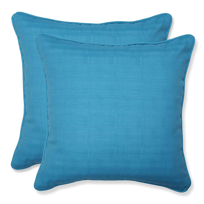 Amazon Com Pillow Perfect Outdoor Veranda Turquoise Throw Pillow