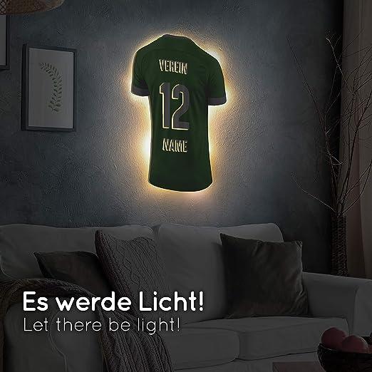 schenke Dein individuellen Berlin Fanartikel aus Echtholz Elbeffekt Trikotlampe f/ür Berlin Fans aus Holz personalisierbares Geschenk