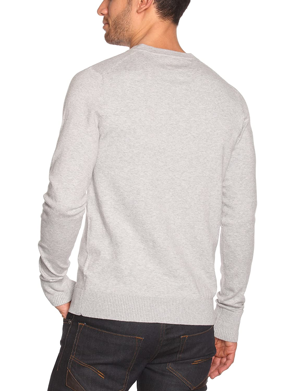 Tommy Gris Small Homme Pull Jeans taille Longues Manches Uni S light Fr Hilfiger Col Grey V Heather Denim Fabricant Timber q6Uqf8z4