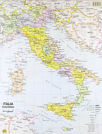 Cartina Politica Italia Formato A3.Carta Geografica Italia 1 800 000 Aa Vv Amazon It Cancelleria E Prodotti Per Ufficio