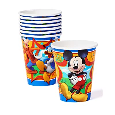 American Greetings Mickey Mouse Party Supplies, 9 oz. Paper Cups, 8-Count: Toys & Games