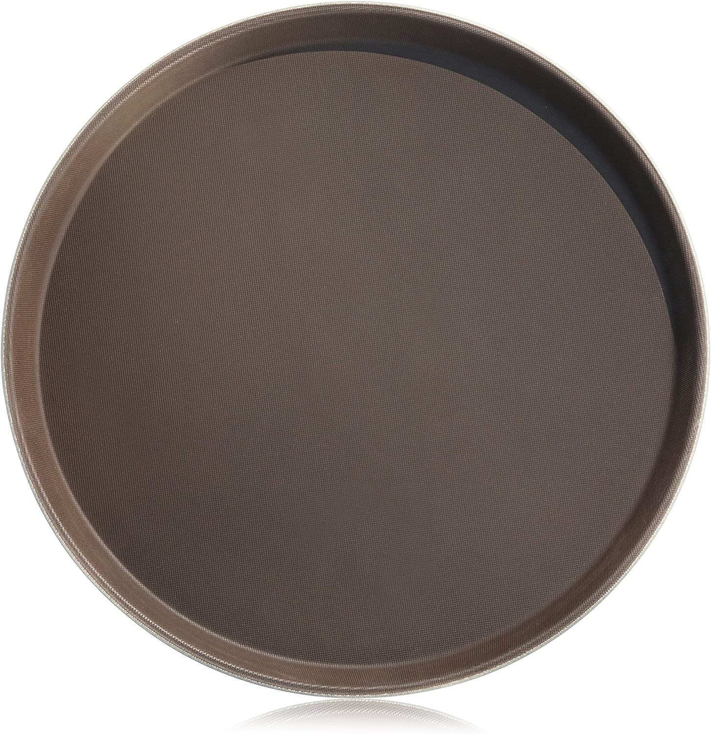 New Star Foodservice 25064 Restaurant Grade Non-Slip Tray, Plastic, Rubber Lined, Round, 14