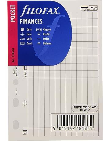 4f8e4d123 Filofax Pocket Finances - Recambio para agenda de anillas, registro de  gastos e ingresos