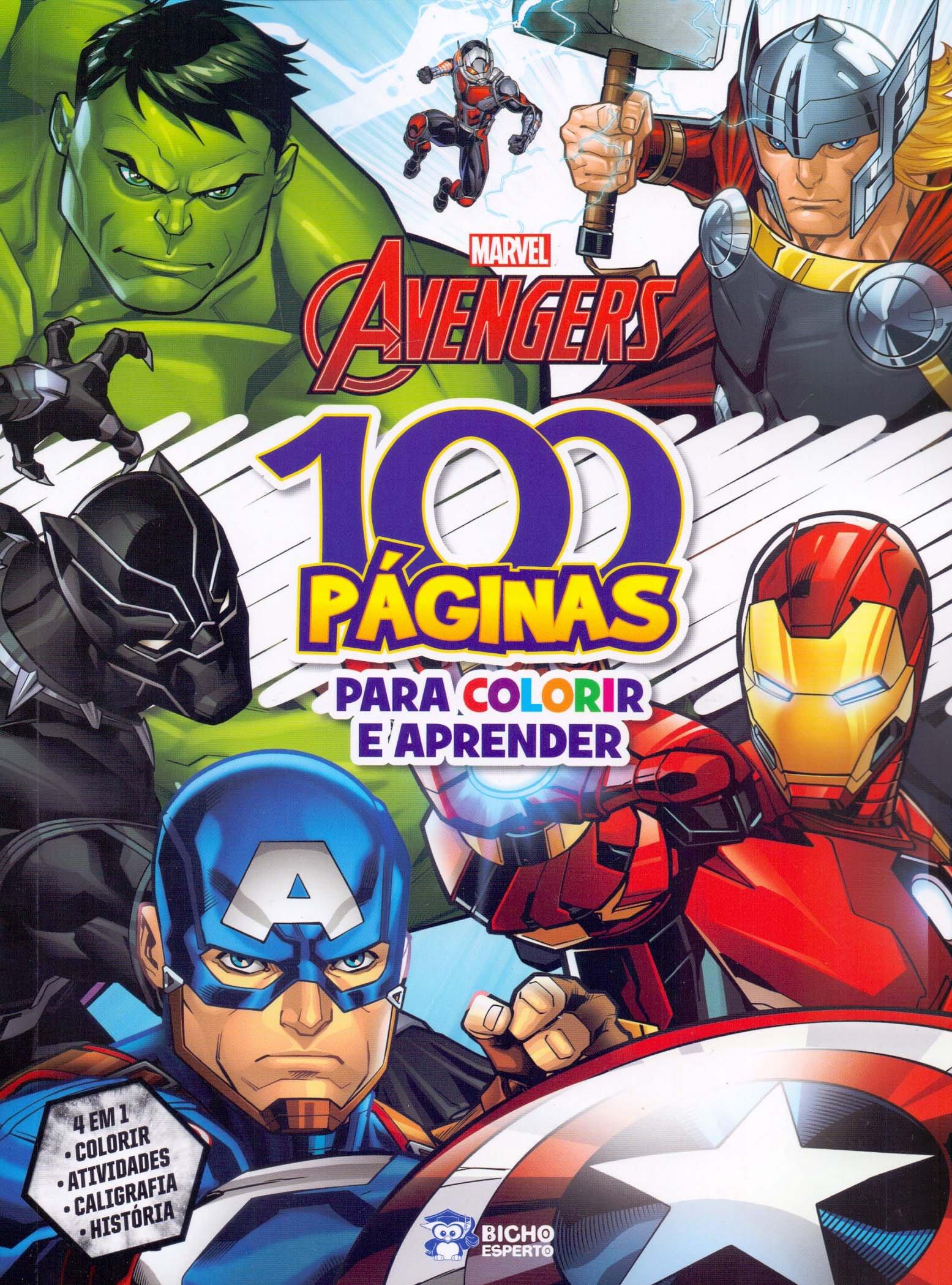 100 Paginas Para Colorir Disney Vingadores Jefferson Ferreira