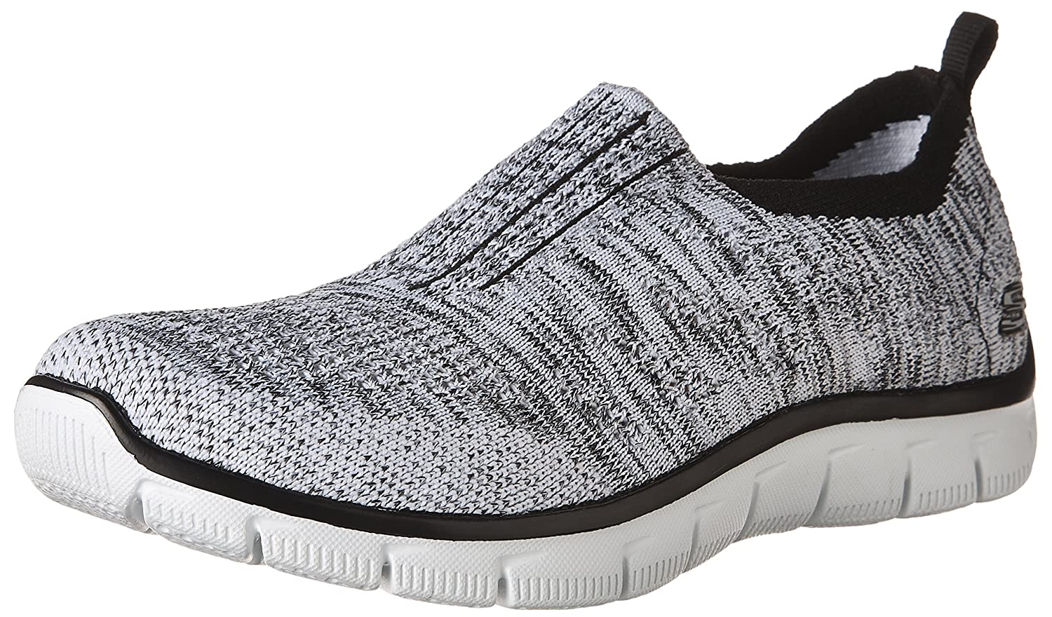 Skechers Sport Women's 8.5 Empire Inside Look Fashion Sneaker B01LX3ZEJA 8.5 Women's B(M) US|White/Black 226618