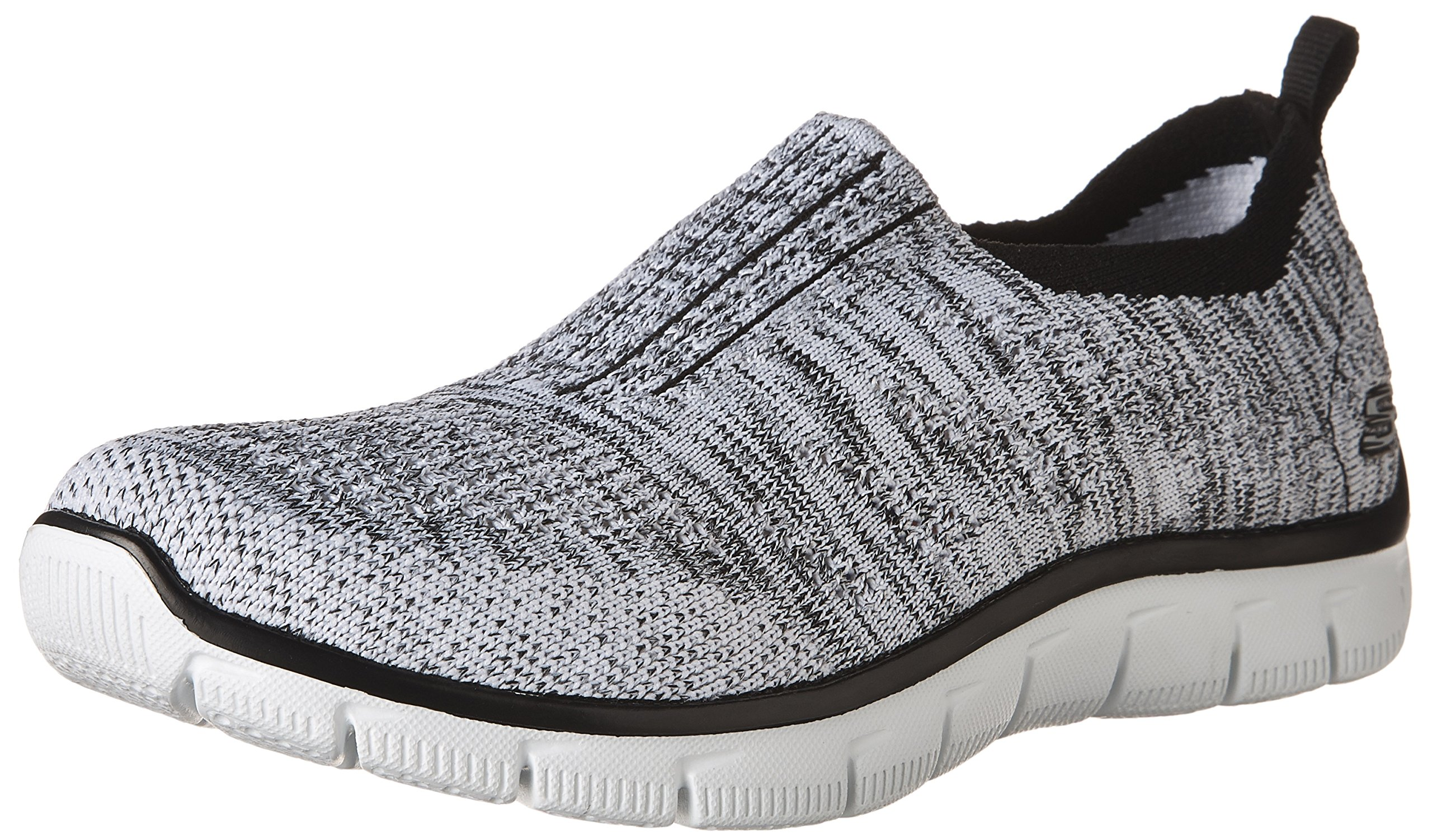 3d1118fec530 Galleon - Skechers Empire Inside Look Womens Slip On Sneakers White Black  6.5
