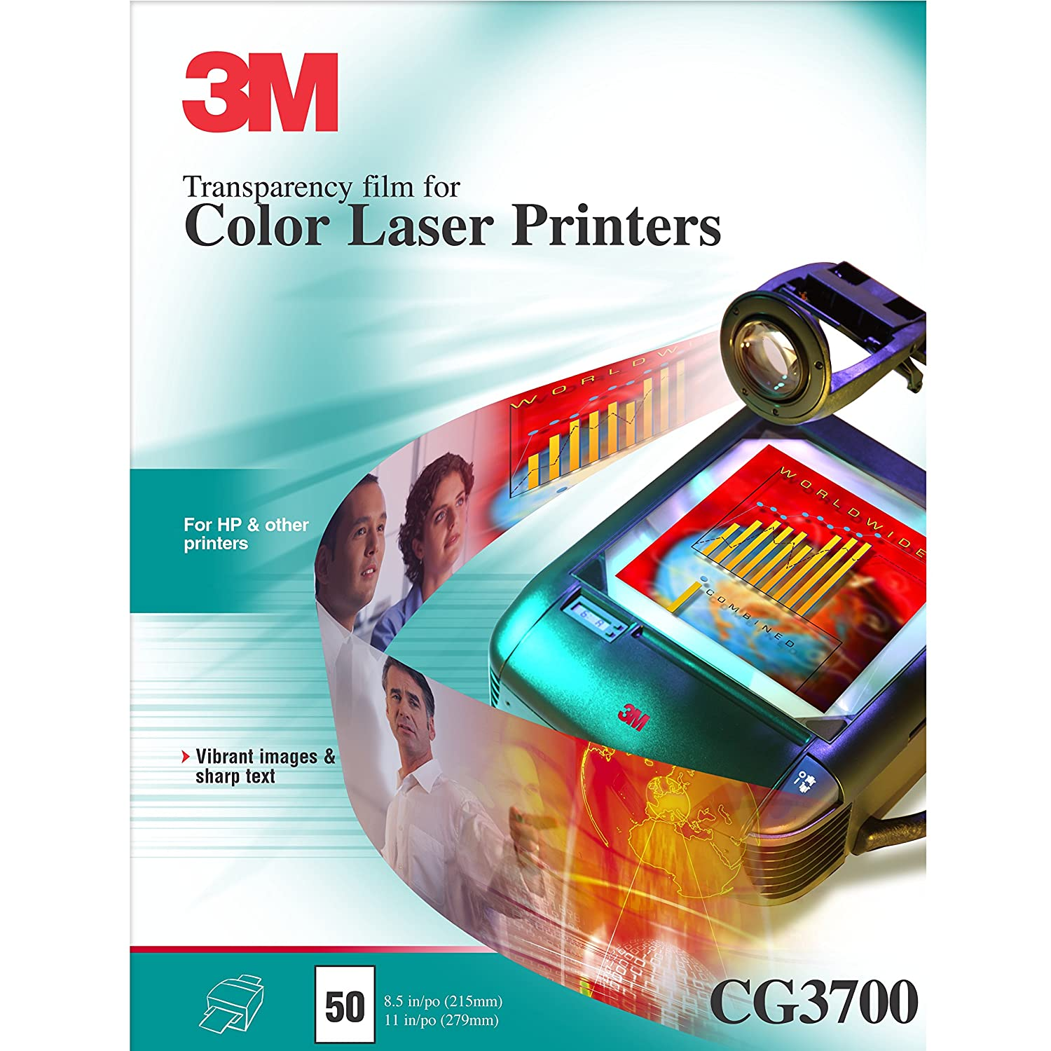 Amazon 3M CG 3700 Color Laser Transparency Film Office Products