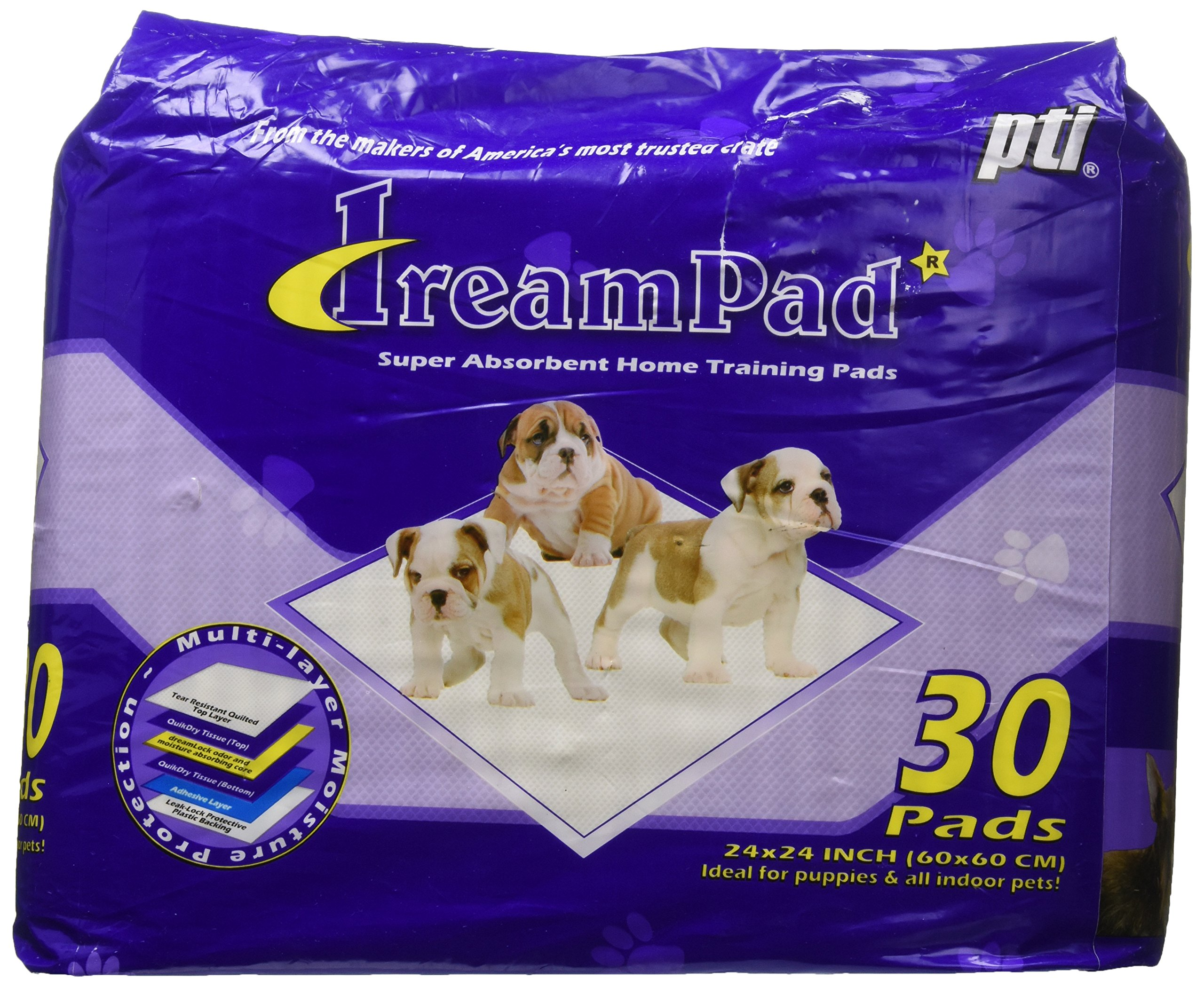 Pet Tek DPK82030 30-Pack Dream Pad Super Absorbent Home Dog Training Pad, Case of 6