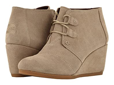 00aa93a6a50 TOMS Desert Wedge Cheetah Suede 10003056 Womens