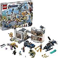 LEGO 76131 Avengers Compound Battle Superhero Playset, Thanos and Hulk Figures, Iron Man, Captain Marvel and Nebula Minifigures, Colourful