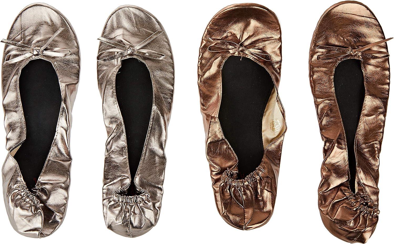 Mopec Manoletinas plata y cobre M+bolsa tacones Pack de 2, Multicolor, Talla única, 2: Amazon.es: Hogar