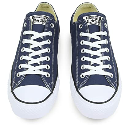 4adecd74d5fb ... Converse Unisex Chuck Taylor All Star Low Top Navy Sneakers - 10 B(M)  ...