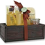 Spa Gift Basket Refreshing Fragrance Enriched with Natural Argan Oil, Perfect Wedding, Birthday or Anniversary Gift, Bath gift Set Includes 8pc Spa Set Women Gift