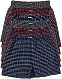 6 bedruckte & weiche 100% Baumwoll Herren Boxershorts Boxer Short in 6 oder 3 modischen Farben im 6er Set verfügbar in S M L XL 2XL 3XL 4XL & 5XL 6XL