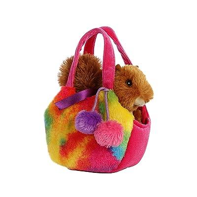 Aurora World Fancy Pals Pet Carrier Pizazz Squirrel Plush: Toys & Games