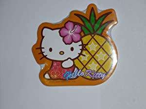 Hello Kitty Shaped Notepad with Magnet on Back Pinapple