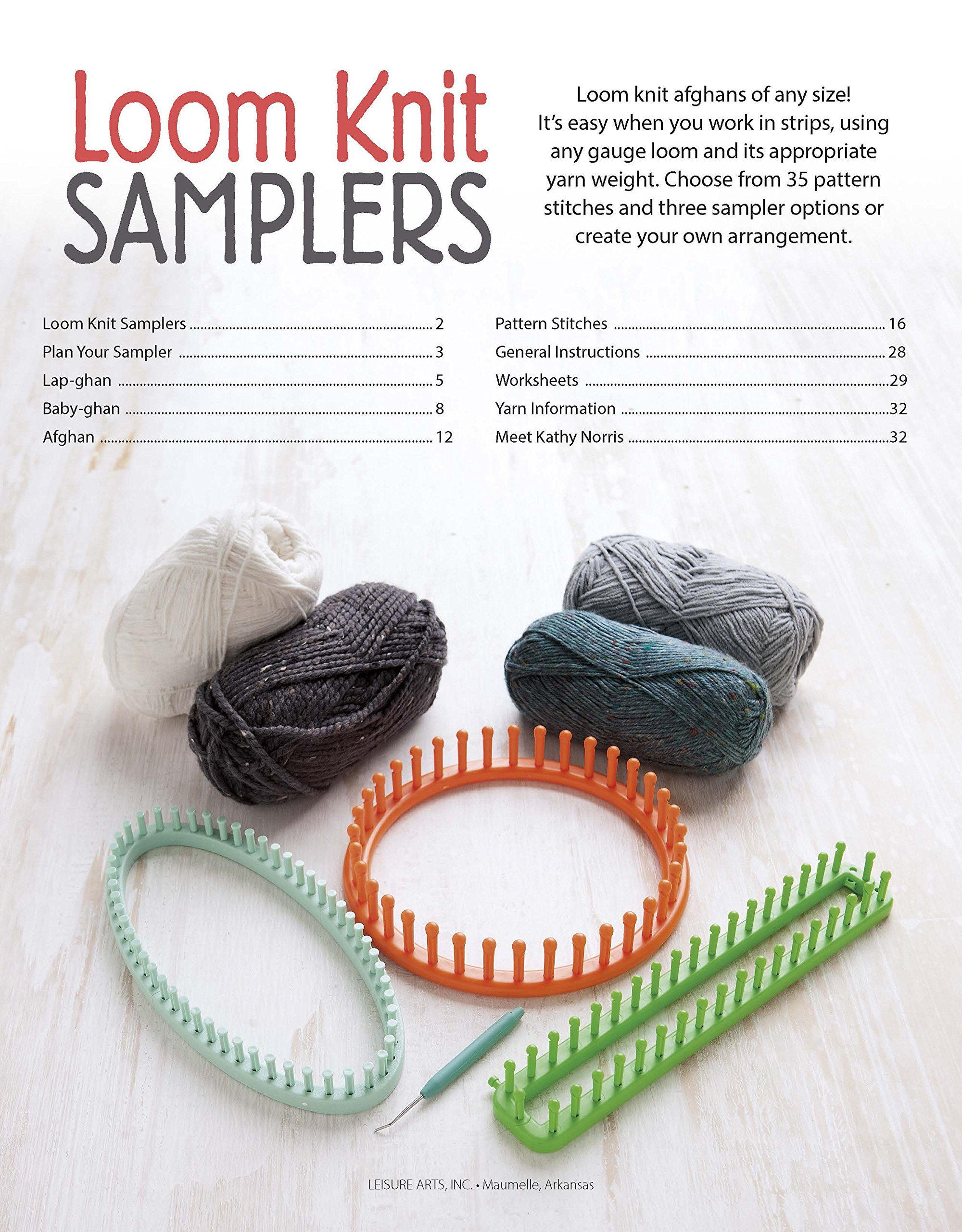 Loom Knit Samplers Knitting Leisure Arts 6931 Kathy Norris