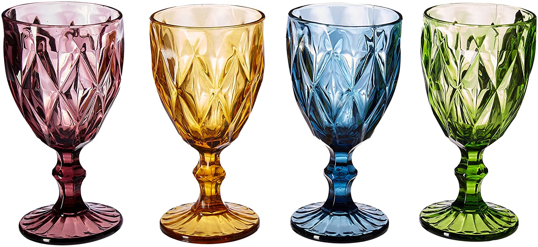 Artland Highgate Goblets, Multi-Colour, Set of 4 30030