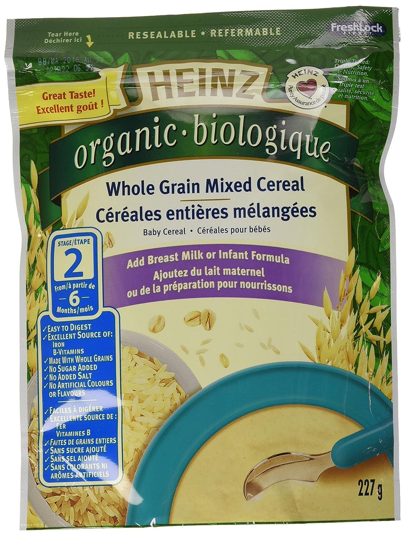 Heinz Organic Whole Grain Mixed Cereal - No Milk, 6 Pack, 227G Each Kraft Heinz Canada ULC