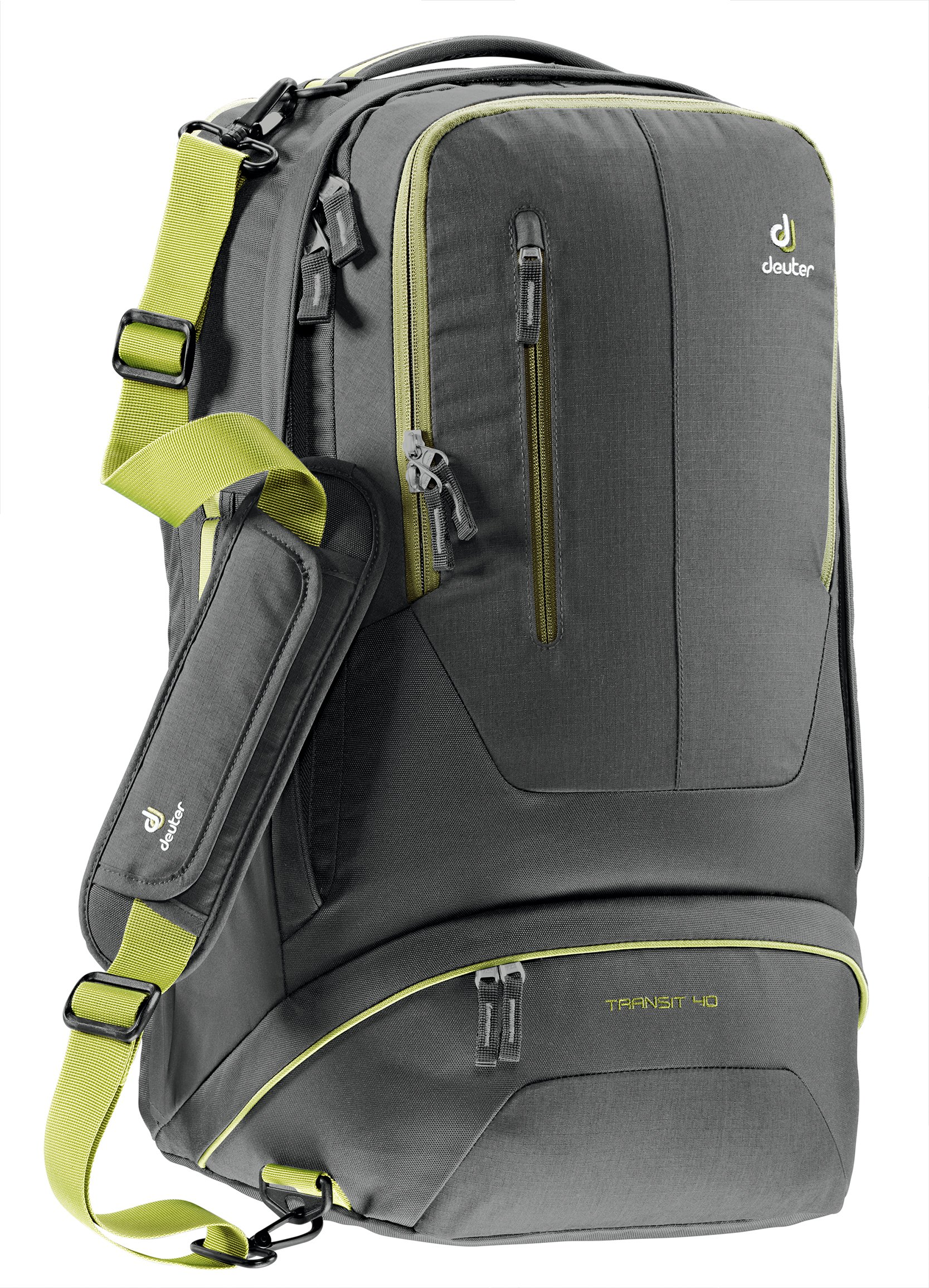 Deuter Transit 40 Carry-On Travel Backpack, Anthracite/Moss