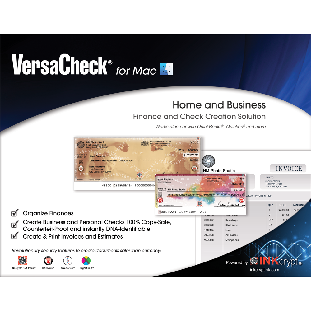 - VersaCheck 2018 for Mac - Finance & Check Creation Software for Macintosh [Download]