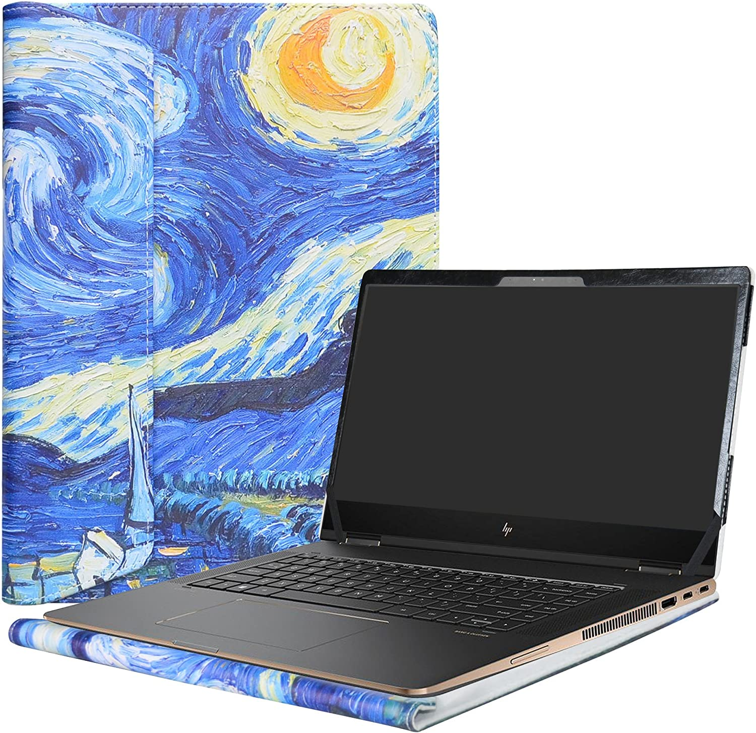 """Alapmk Protective Case Cover for 15.6"""" HP Spectre x360 15 15-chXXX (15-ch000 to 15-ch999,Such as 15-ch011nr 15-ch011dx,Not fit Spectre x360 15 15-apXXX/15-blXXX Series) Laptop,Starry Night"""